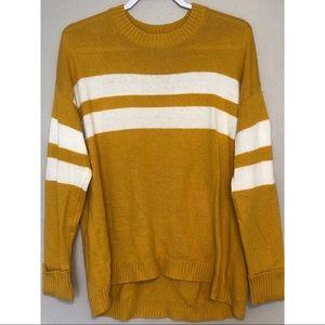 Yellow Striped American Eagle Sweater